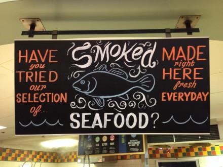 Seafood Chalkboard