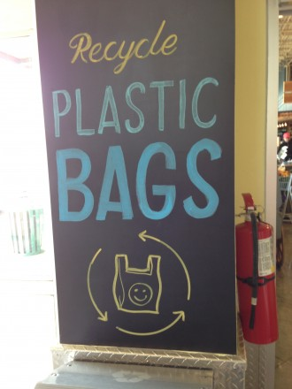 Recycle Plastic Bags Chalk